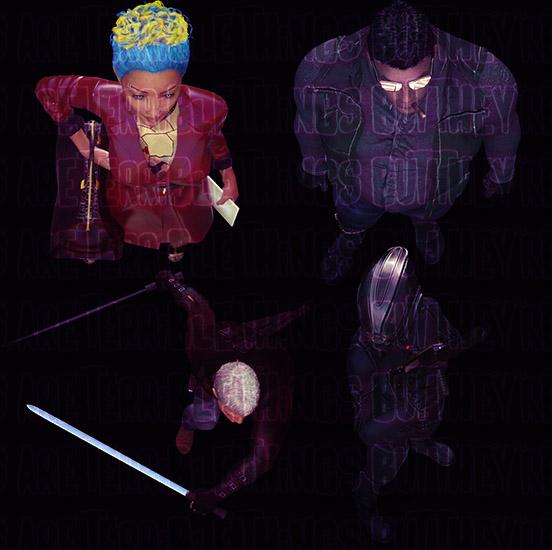 Cyberpunk portrait tokens closeup